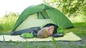 Barraca de acampamento da criança video estoque