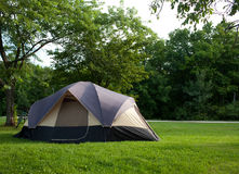 Barraca de acampamento no acampamento Imagem de Stock