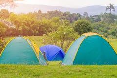 Barraca de acampamento no acampamento no parque nacional Fotos de Stock Royalty Free