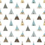Barraca do verão do nativo americano da tenda Imagens de Stock
