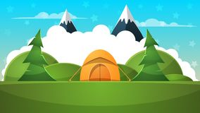 Barraca, ilustração do curso Desenhos animados da paisagem Imagens de Stock Royalty Free