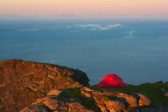 Barraca na montanha Ridge Fotos de Stock