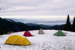 Barracas da expedição Fotografia de Stock
