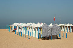 Barracas da praia em Portugal Fotografia de Stock