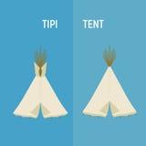 Barracas do indiano ou da tenda do turista para a recreação exterior Fotografia de Stock Royalty Free