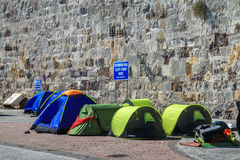Barracas do refugiado Fotografia de Stock Royalty Free