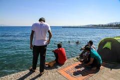 Barracas do refugiado foto de stock