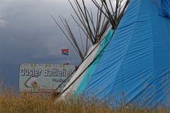 Barracas em Custer Battlefield fotografia de stock