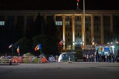 Barracas na frente de Moldova chisinau Fotos de Stock