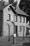 Barrack at Auschwitz stock photo