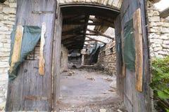 Barrack. Door old house rudere mountain Stock Photos