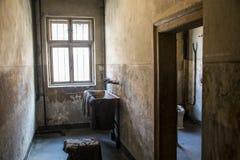 Barrack living room concentration camp Auschwitz Birkenau KZ Poland Royalty Free Stock Photo