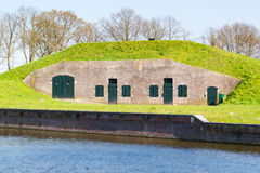Barrack in rampart of Naarden, Netherlands Royalty Free Stock Photos