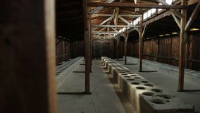 A barrack view inside the concentration camp in Poland Auschwitz Birkenau.