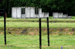 Barrack in wich Anne Frank was prisoned befor deportation to Auswich. Netherlands,Holland,Dutch,Drenthe,Westerbork,august 2016:Barrack in wich Anne Frank was stock image