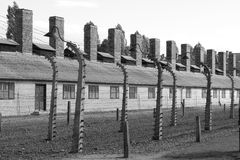 Barracks at Auschwitz Stock Photos