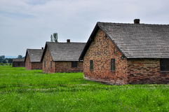 Barracks in Auschwitz - Birkenau concentration camp, Poland Royalty Free Stock Images