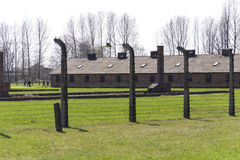 Barracks in Auschwitz concentration camp Royalty Free Stock Photos