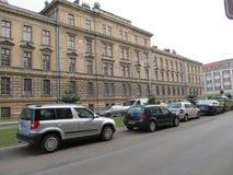 Barracks. Big old barracks in the center of Hradec Kralove royalty free stock images