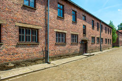 Barracks in former Nazi concentration camp Royalty Free Stock Photos
