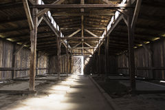 Barracks interior in Auschwitz concentration camp Stock Photography