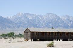 Barracks at Japanese relocation camp. Barracks in Manzanar - Japanese relocation camp during WWII Stock Photos