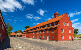 Barracks in Kastellet fortress, Copenhagen, Denmark Royalty Free Stock Photo