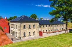 Barracks in Kastellet fortress, Copenhagen, Denmark Royalty Free Stock Images