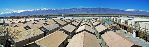 Panorama mountains and Barracks Royalty Free Stock Photography