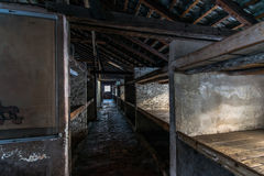 Barracks of the Nazi concentration camp Auschwitz Bi Royalty Free Stock Photography