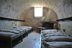 Barracks at Old fort ,St Augustine. With little light royalty free stock photo