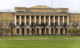 Barracks of the Pavlovsk grenadierial regiment, now Lenenergo building, on the Field of Mars. St. Petersburg. Russia Royalty Free Stock Images