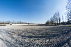 Barracks place from Dachau concentration camp Royalty Free Stock Image
