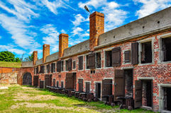 Barracks in Wisloujscie fortress Royalty Free Stock Photos