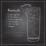 Barracuda de cocktail sur le conseil noir Photo stock