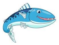 Barracuda heureux de bande dessinée Photographie stock