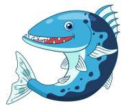 Barracuda mignon de bande dessinée Photographie stock libre de droits