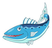Barracuda mignon de bande dessinée Images libres de droits