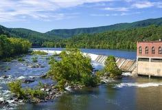 Barrage électrique hydraulique Image stock