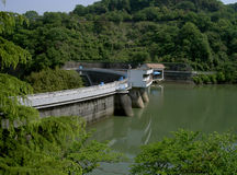 Barrage. A barrage on Uji river near Kyoto city Japan Royalty Free Stock Photos