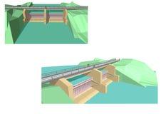 barrage illustration stock