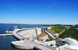 Barrage of Alqueva, Portugal Stock Images