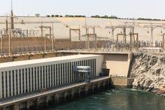 Barrage d'Assouan dans le haut barrage - Egypte photos stock