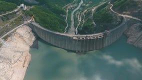 Barrage d'Enguri, centrale hydraulique banque de vidéos