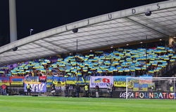 Barrage 2016 d'EURO de l'UEFA pour la finale : La Slovénie v Ukraine Image libre de droits