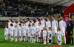 Barrage 2016 d'EURO de l'UEFA pour la finale : La Slovénie v Ukraine Image stock