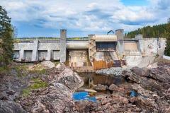 Barrage dans Imatra, Finlande photographie stock