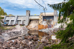 Barrage dans Imatra, Finlande image libre de droits