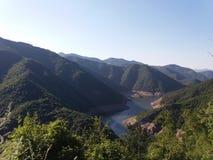 Barrage dans la montagne Photo libre de droits