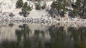 Barrage de Big Bear Lake banque de vidéos